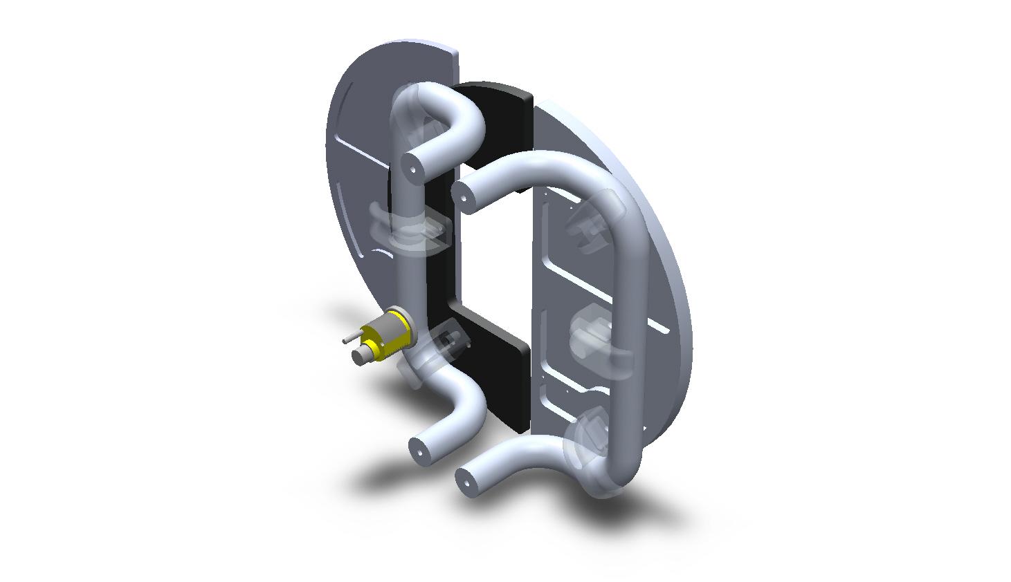 Round Aluminum Sliding Split Plate Custom Door Handles
