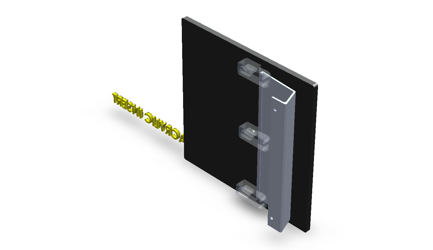Customize Square Aluminum Plate Door Handles