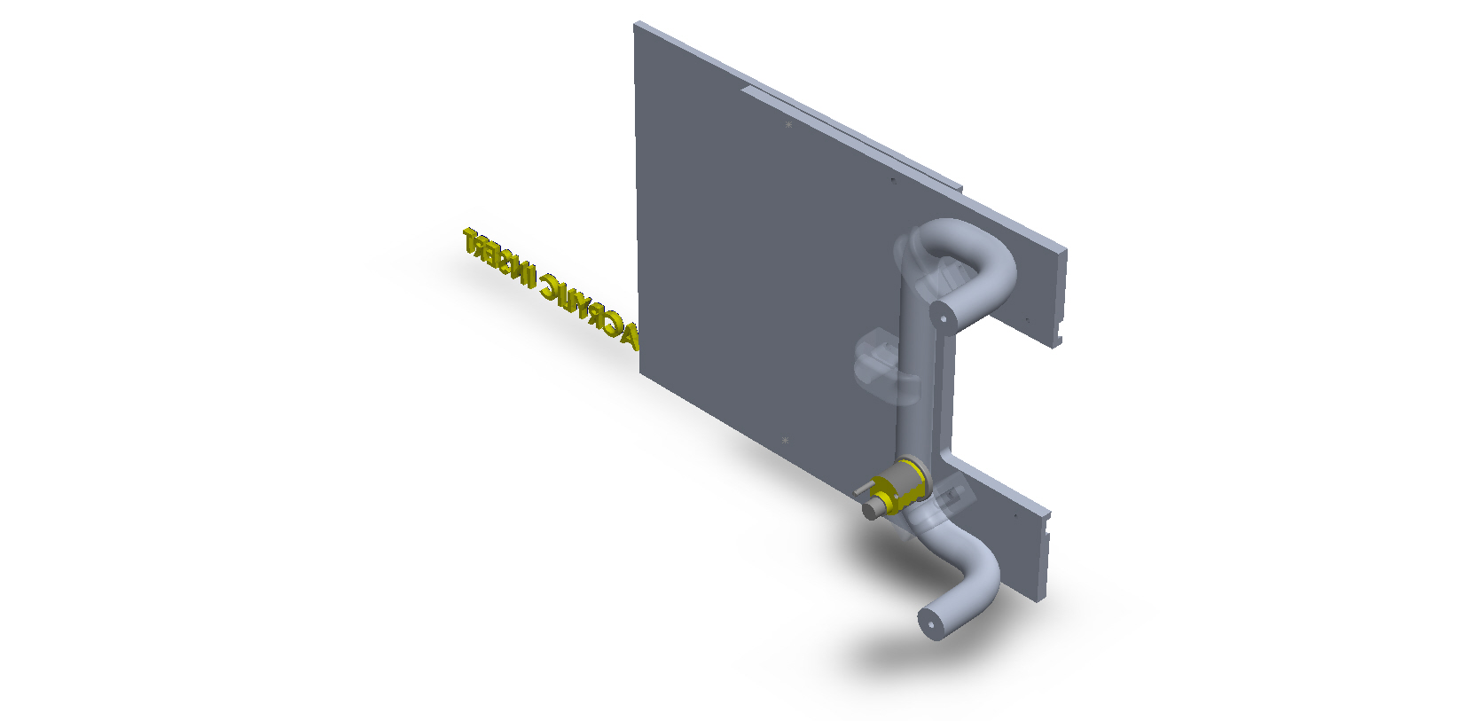 Square Aluminum Sliding Plate Door Handles for Small Businesses.