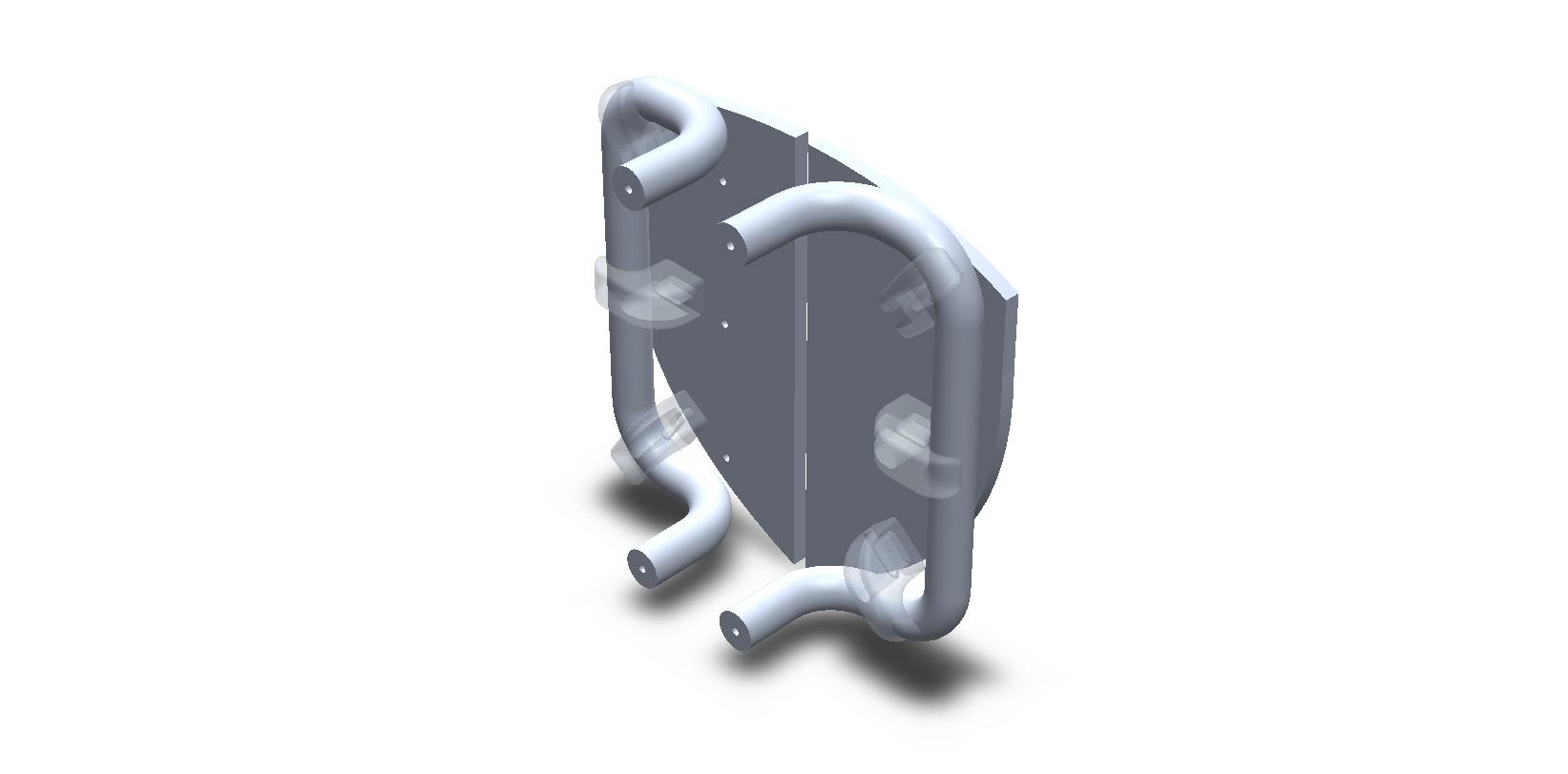 Shield Shape Aluminum Split Plate Door Handles