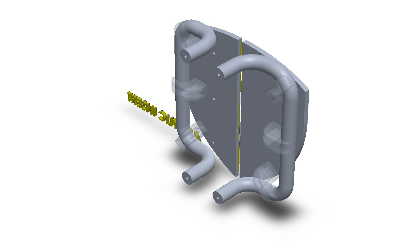Customize Shield Shape Aluminum Split Plate